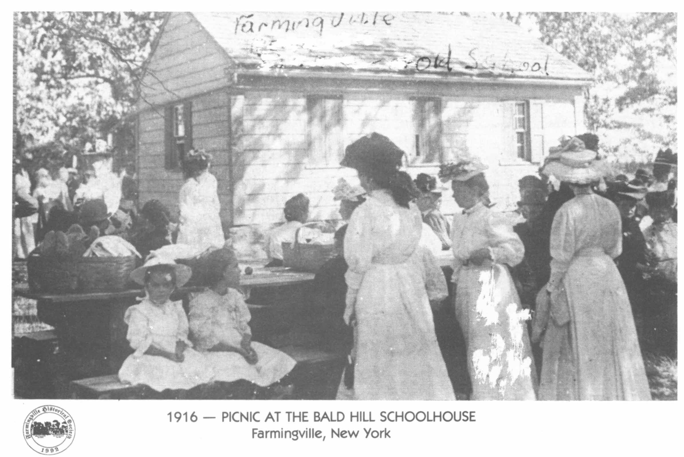 Picnic at the Bald Hill Schoolhouse, 1916