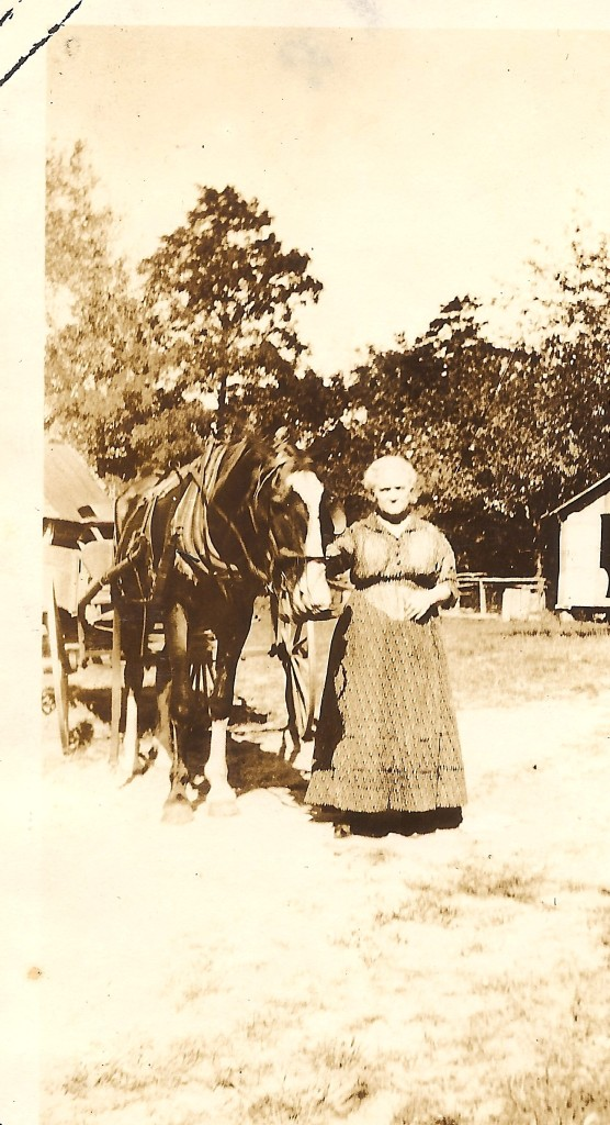 Mrs. Marie Bussing with horse