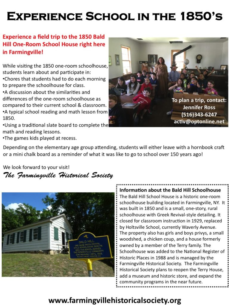 Bald Hills Schoolhouse Field Trip