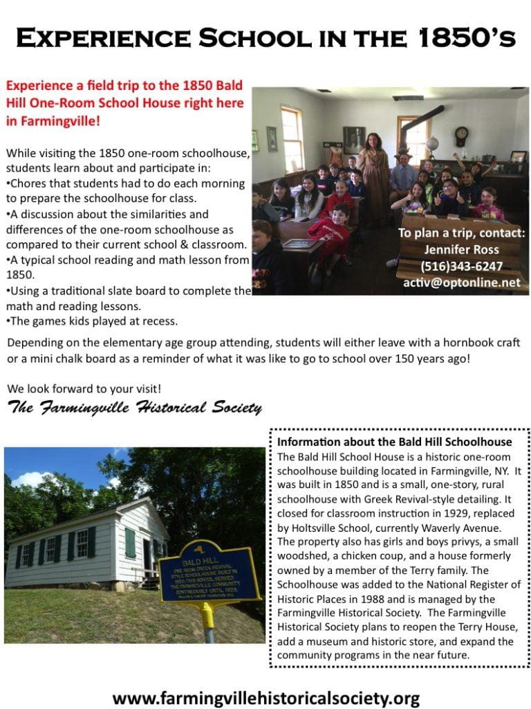 Bald Hills Schoolhouse Field Trip