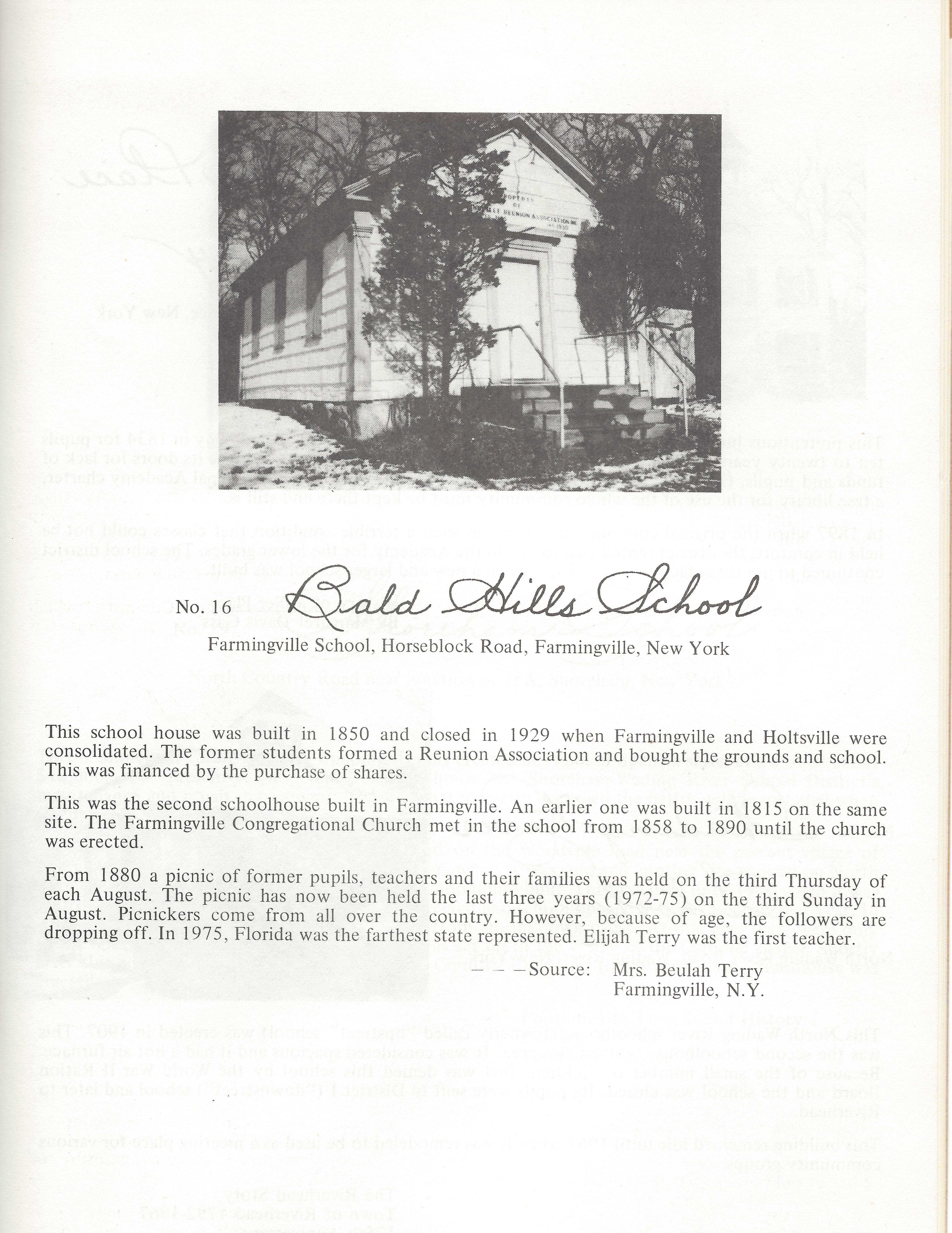 Old Schoolhouses LI