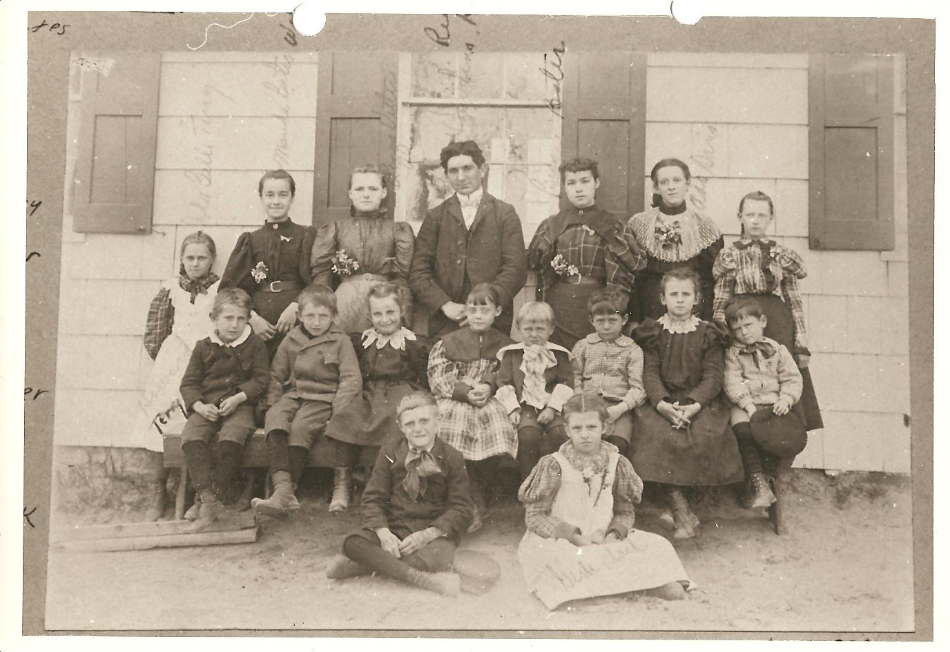 Schoolhouse & Students c.1896