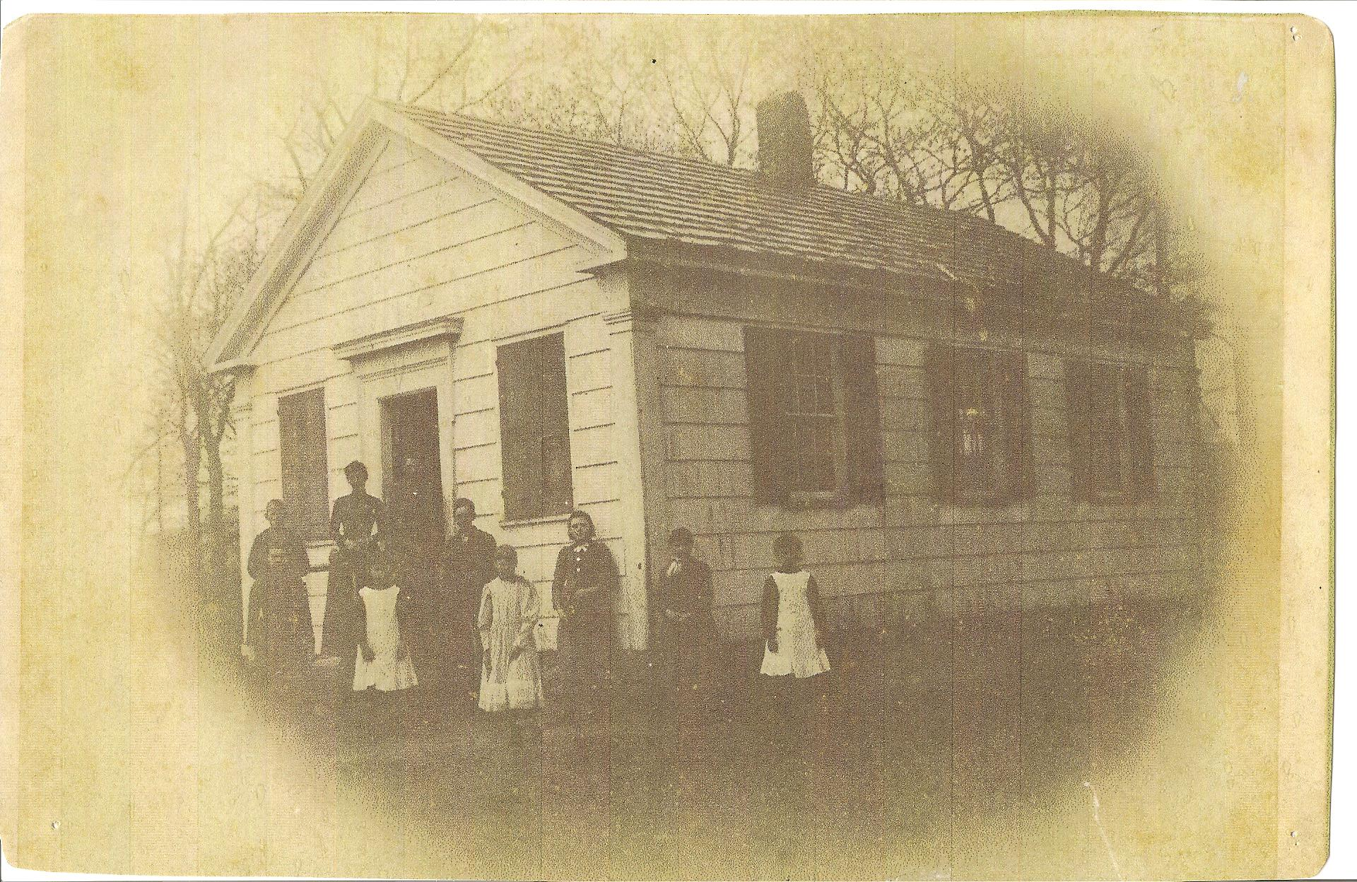 Schoolhouse & Students c.unknown