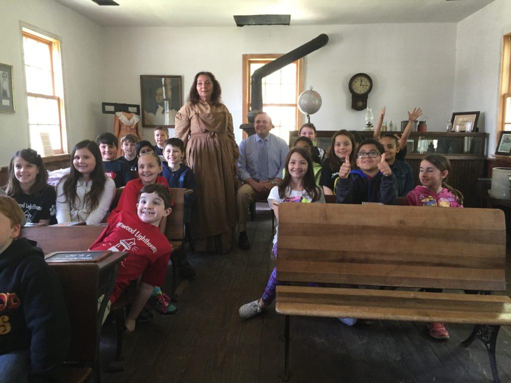 1850 Bald Hill Schoolhouse Lynwood Field Trip