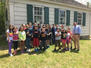Lynwood Third Grade Students at Bald Hill School House