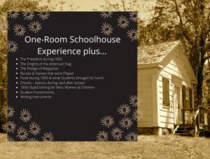 1850 One-Room Schoolhouse Course