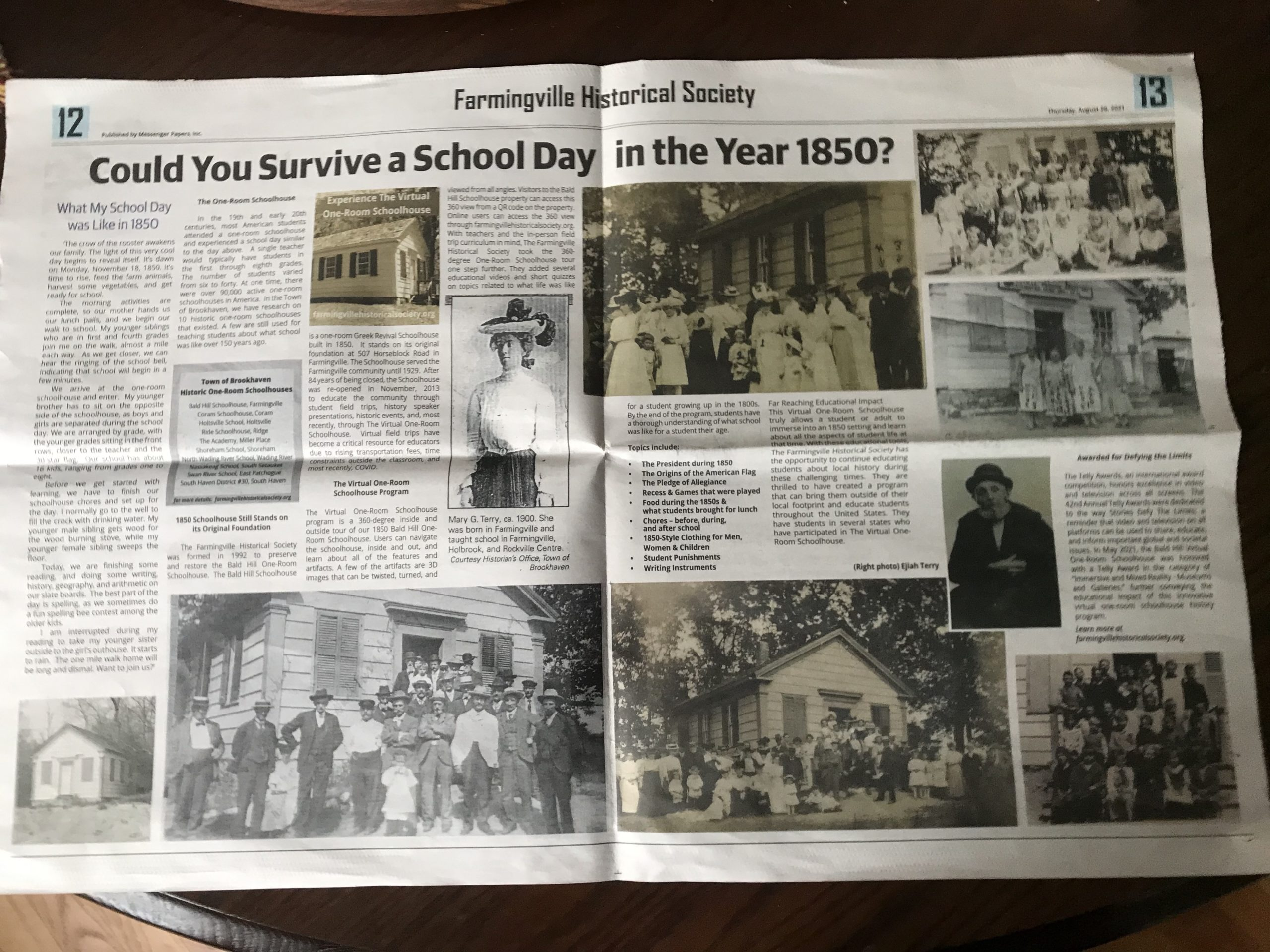 Could You Survive a School Day in the Year 1850?